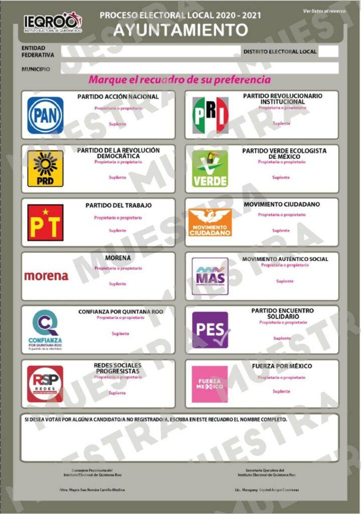 Aprueba IEQROO diseños definitivos de la documentación electoral
