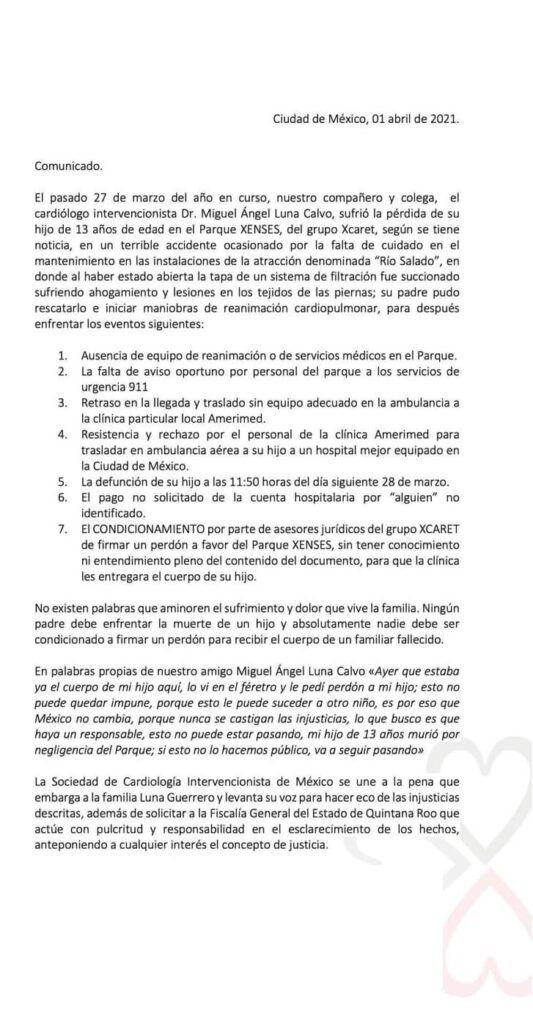 Sociedad de Cardiología  Intervencionista de México pide a la FGE esclarecimiento de caso Xenses