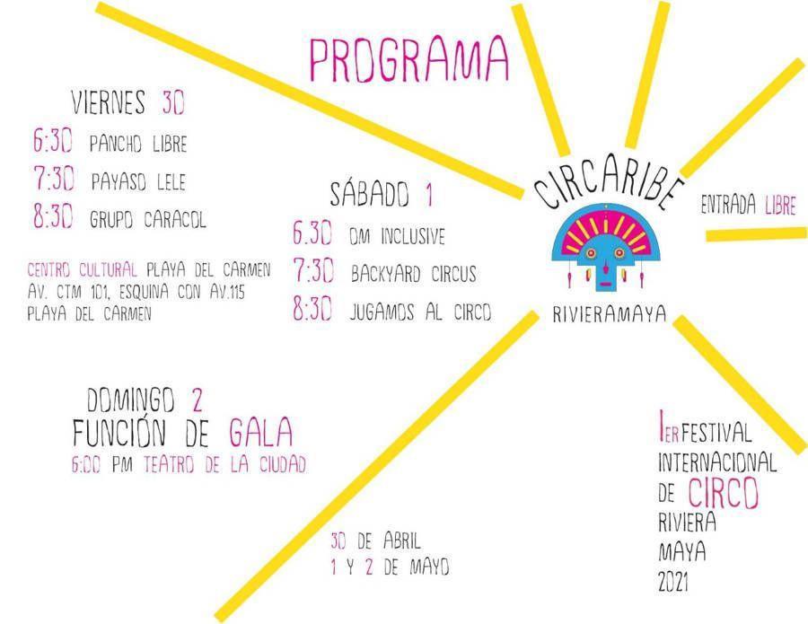 Habrá en Playa del Carmen talleres y actos circenses