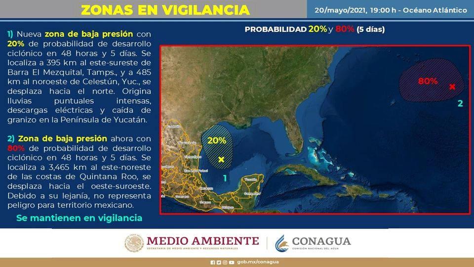 Informan sobre Zona de inestabilidad en el Golfo de México