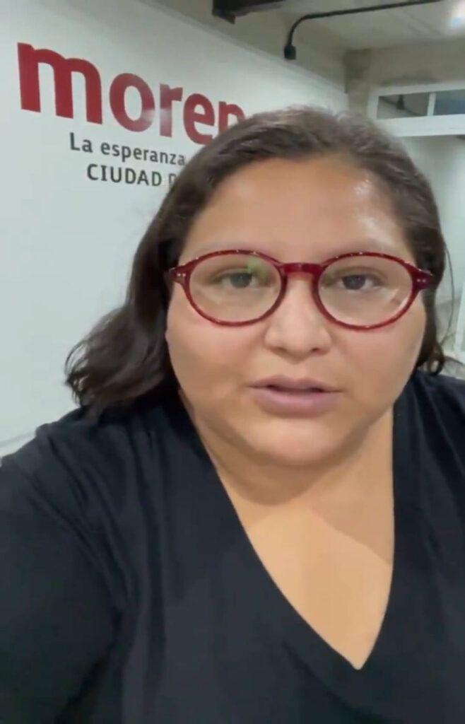 Rechaza secretaria Nacional de Morena acciones del IEQROO en Solidaridad