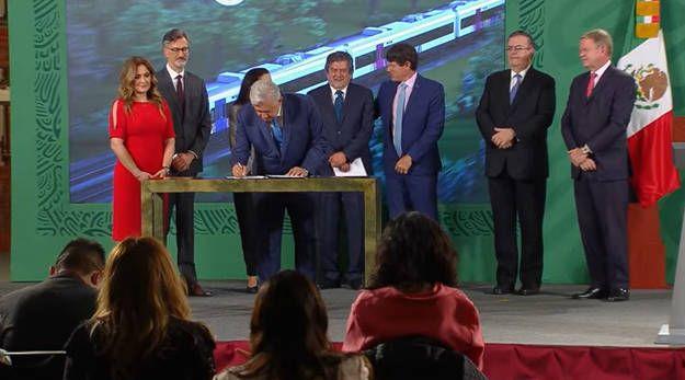 Firman contrato para fabricar vagones de Tren Maya en México
