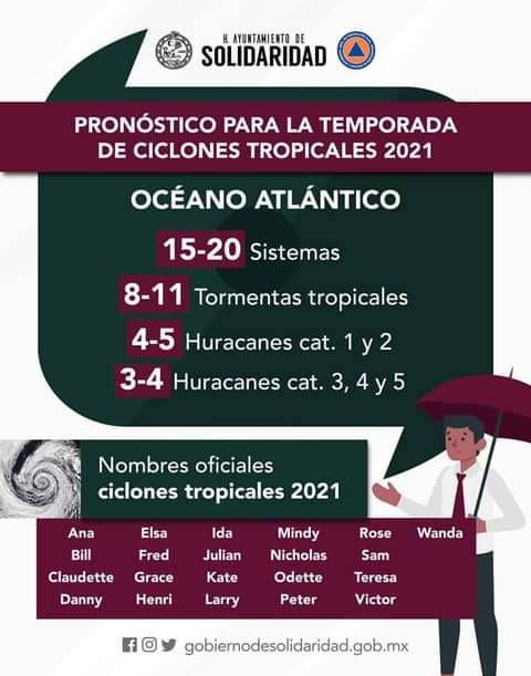 Alistan estrategias para afrontar temporada de huracanes en Solidaridad