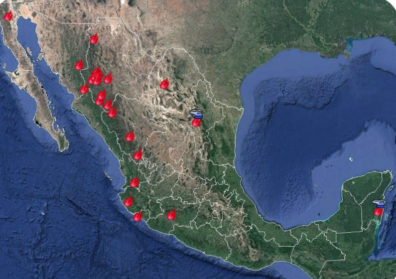 Hay en México 23 incendios forestales activos
