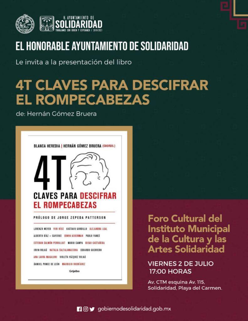 Invitan a la presentación del libro 4T Claves para descifrar el rompecabezas