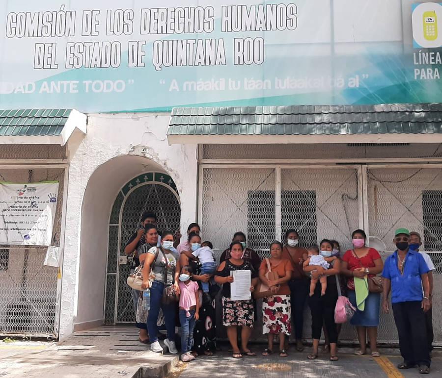 Defensoras de derechos humanos del balneario El Chorro en Juan Sarabia interponen denuncia y queja