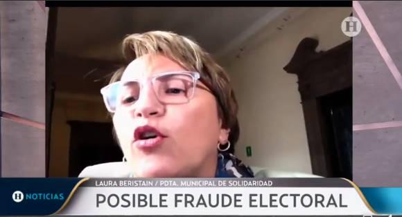 Asegura Laura Beristain que revertirán fraude electoral en Solidaridad