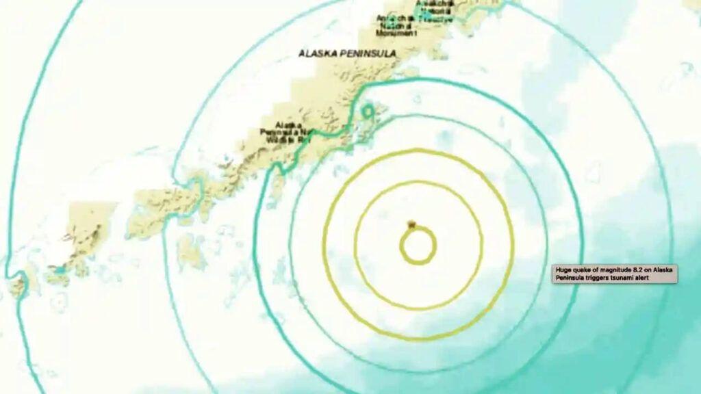 Se registra sismo frente a las costas de Alaska
