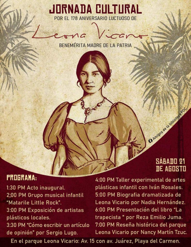 Invitan a la Jornada Cultural por el Aniversario Luctuoso de Leona Vicario