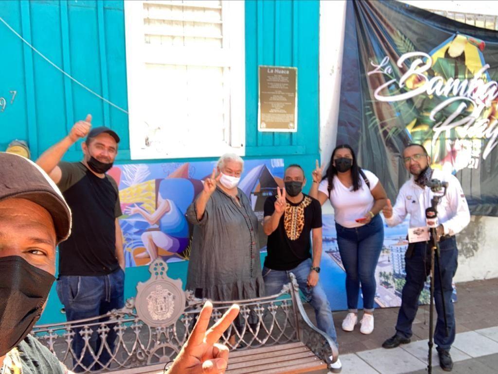 Activan el cuarto mural con realidad aumentada en el Barrio de la Huaca, Veracruz
