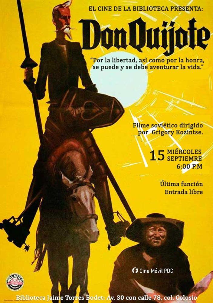 El Cine de la Biblioteca invita a su última función con Don Quijote