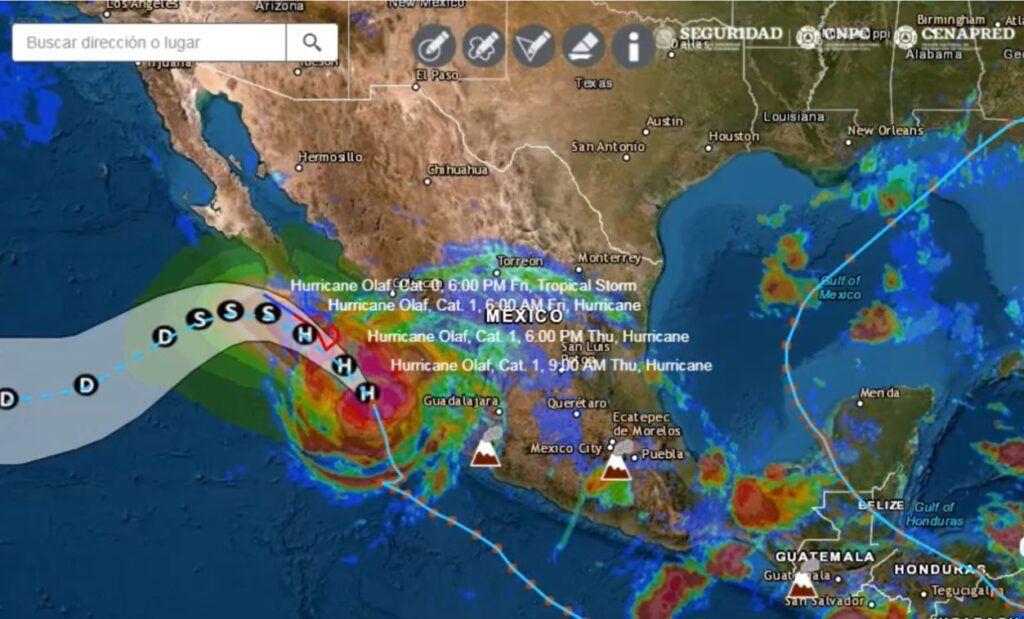 Se fortalece Olaf a huracán categoría 1