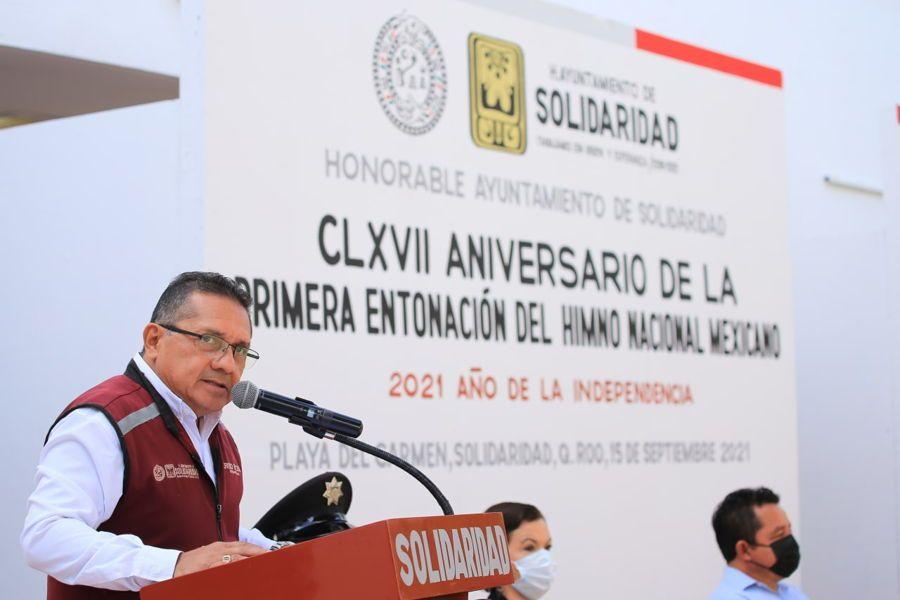 Promueve Gobierno de Solidaridad historia de México a través de su himno