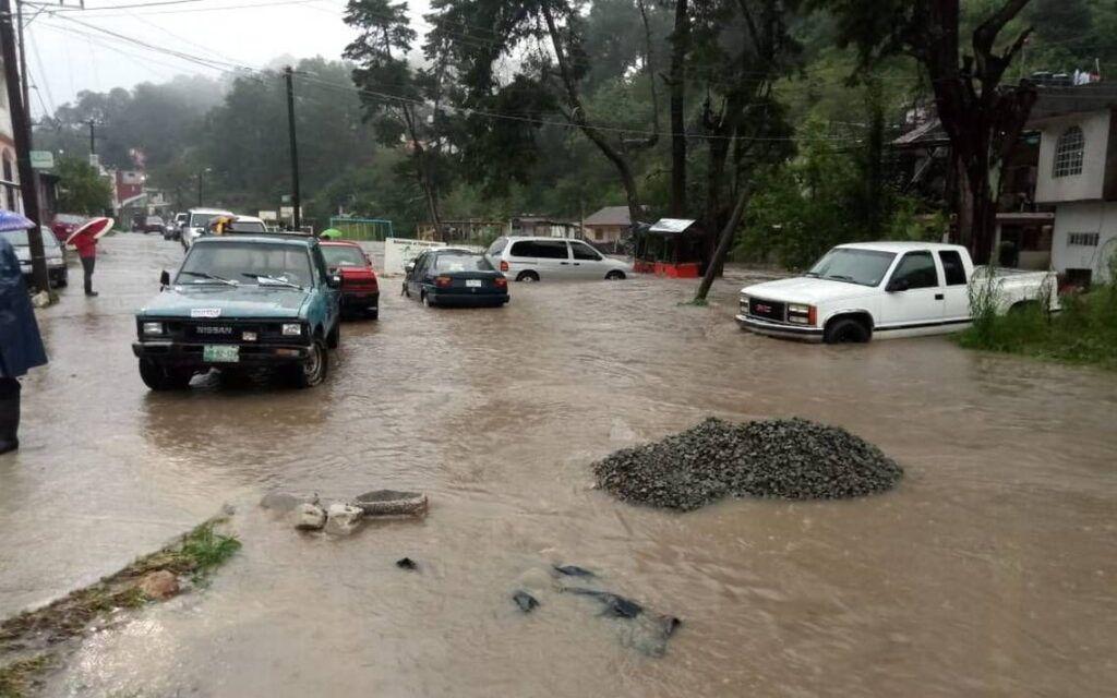 Cuantiosos daños por lluvias en Hidalgo