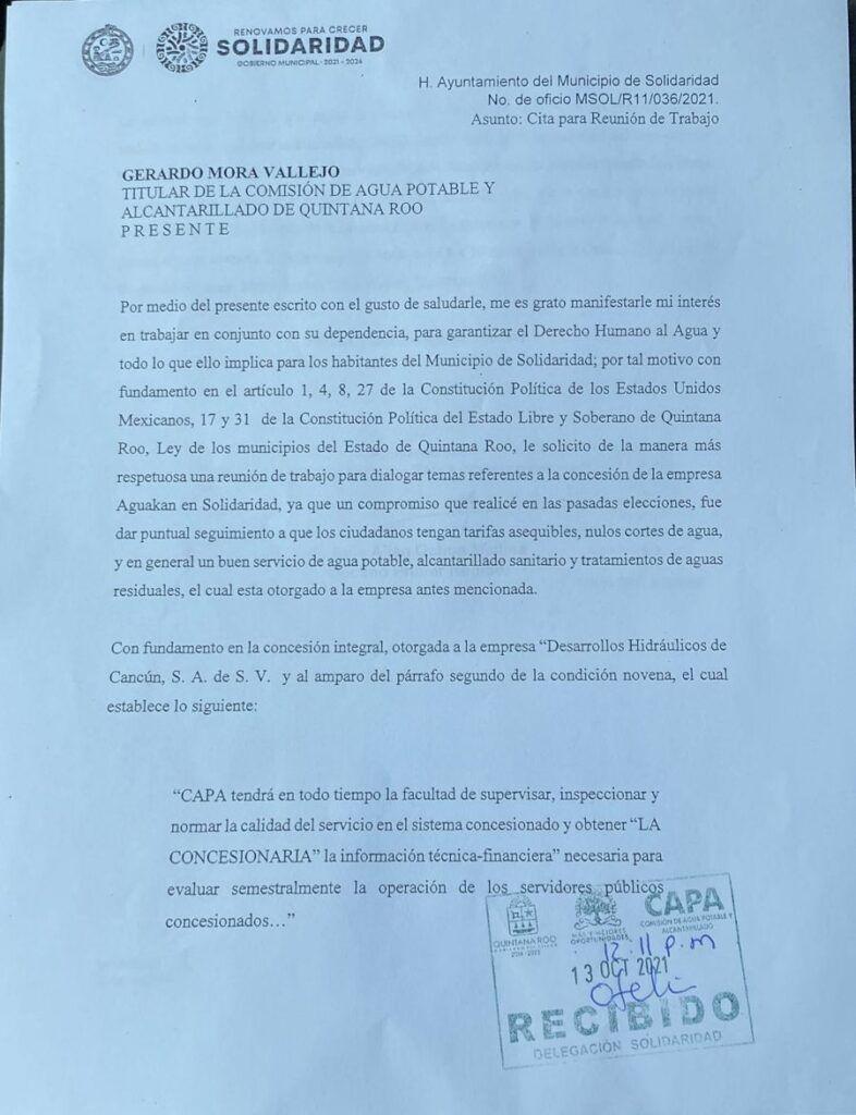 CAPA debe revisar concesión de Aguakán: regidor