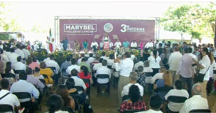 Presenta Marybel Villegas tercer informe